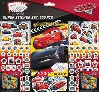 SUPER STICKER SET DE 500 PEGATINAS. CARS