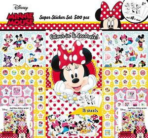 SUPER STICKER SET DE MINNIE MOUSE