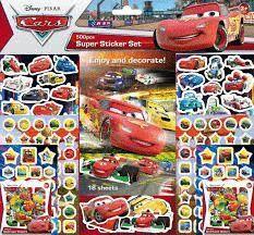 CARS SUPER STICKER SET 500 PEGATINAS
