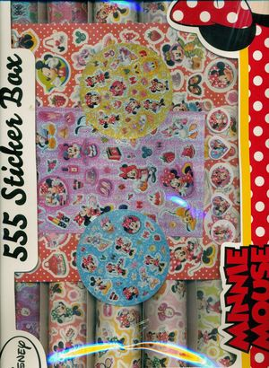 SET DE PEGATINAS DE MINNIE. 555 STICKER BOX