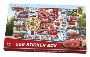 SET PEGATINAS CARS 555 - 555 STICKER BOX
