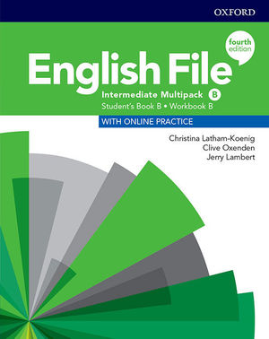 ENGLISH FILE INTERMEDIATE MULTIPACK B SB +ONLINE PRAC +WB KEY
