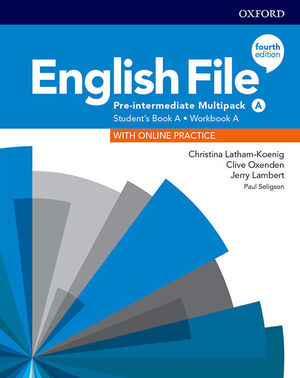 ENGLISH FILE PRE-INTERMEDIATE MULTIPACK A SB + ONLINE PRAC + WB KEY