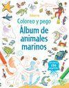 ALBUM DE ANIMALES MARINOS - COLOREO Y PEGO