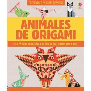 ANIMALES DE ORIGAMI. CON 75 HOJAS ESTAMPADAS Y UN LIBRO DE INSTRUCCIONES PASO A PASO
