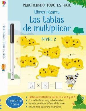 LIBROS PIZARRA. LAS TABLAS DE MULTIPLICAR 2