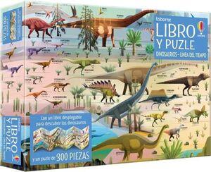 DINOSAURIOS LINEA DEL TIEMPO - LIBRO Y PUZLE 300 PIEZAS