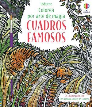CUADROS FAMOSOS. COLOREA POR ARTE DE MAGIA + PINCEL