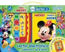 LECTOR ELECTRONICO Y BIBLIOTECA DE 8 LIBROS. MICKEY