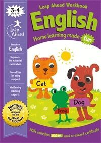 LEAP AHEAD WORKBOOK ENGLISH.  3-4 YEARS