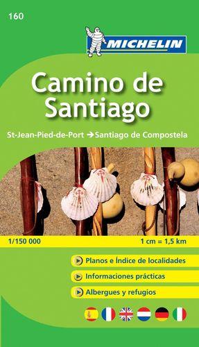 CAMINO DE SANTIAGO. 160. MAPA ZOOM