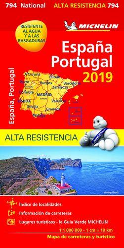 MAPA 794 ESPAÑA - PORTUGAL 2019