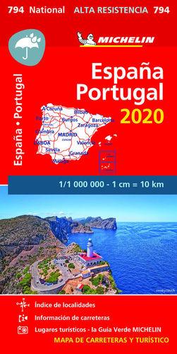 MAPA 794  ESPAÑA - PORTUGAL 2020