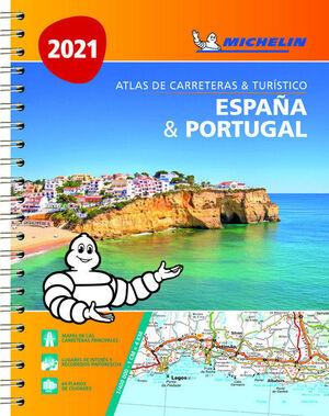 ATLAS DE CARRETERAS & TURÍSTICO. ESPAÑA Y PORTUGAL 2021