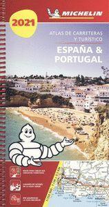 ATLAS DE CARRETERAS Y TURISTICO ESPAÑA Y PORTUGAL 2021