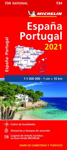 MAPA 734 ESPAÑA - PORTUGAL 2021