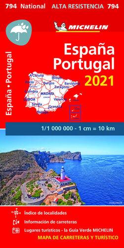 MAPA 794  ESPAÑA - PORTUGAL 2021