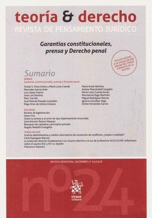 TEORIA Y DERECHO N.24 REVISTA DE PENSAMIENTO JURIDICO