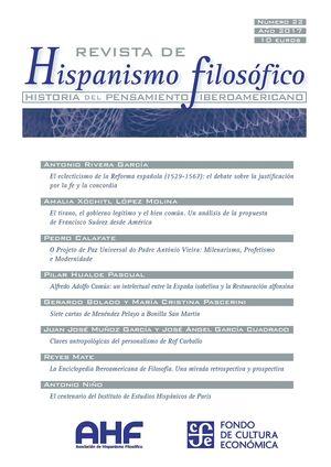 REVISTA DE HISPANISMO FILOSÓFICO N.22