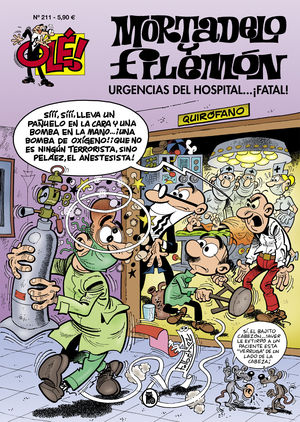 MORTADELO Y FILEMÓN N. 211 URGENCIAS DEL HOSPITAL...¡FATAL!
