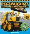 JCB. ACTIVIDADES CON PEGATINAS. EXCAVADORAS