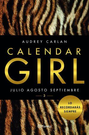 CALENDAR GIRL 3. JULIO AGOSTO SEPTIEMBRE
