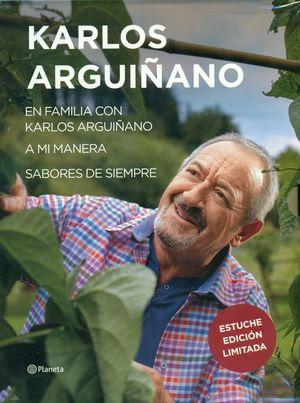 ESTUCHE KARLOS ARGUIÑANO: EN FAMILIA / A MI MANERA / SABORES DE SIEMPRE