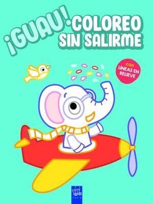 GUAU! COLOREO SIN SALIRME. AZUL