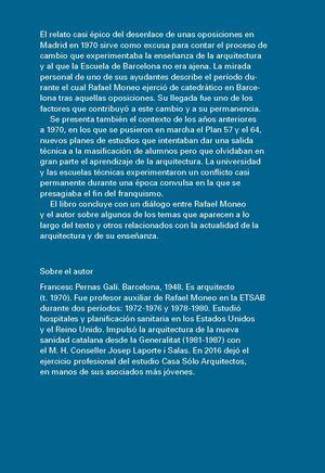 APRENDER ARQUITECTURA ENSEÑANDO CON RAFAEL MONEO