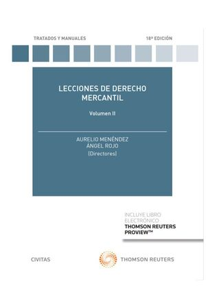 LECCIONES DE DERECHO MERCANTIL VOLUMEN II (PAPEL + E-BOOK)
