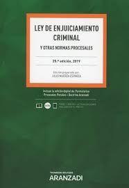 LEY DE ENJUICIAMIENTO CRIMINAL Y OTRAS NORMAS PROCESALES