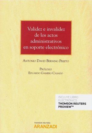 VALIDEZ E INVALIDEZ DE LOS ACTOS ADMINISTRATIVOS EN SOPORTE ELECTRÓNICO