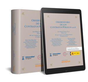 OBSERVATORIO DE LOS CONTRATOS PÚBLICOS 2018 (PAPEL + E-BOOK)