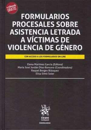 FORMULARIOS PROCESALES SOBRE ASISTENCIA LETRADA A VICTIMAS DE VIOLENCIA DE GÉNERO