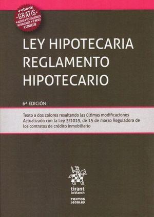 LEY HIPOTECARIA. REGLAMENTO HIPOTECARIO