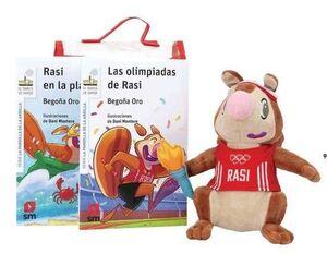 PACK LAS OLIMPIADAS DE RASI + RASI EN LA PLAYA + MUÑECO