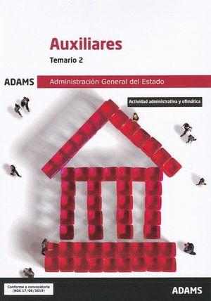 AUXILIARES ADMINISTRACION GENERAL DEL ESTADO. TEMARIO 2