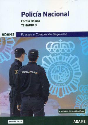 POLICÍA NACIONAL ESCALA BÁSICA TEMARIO 3