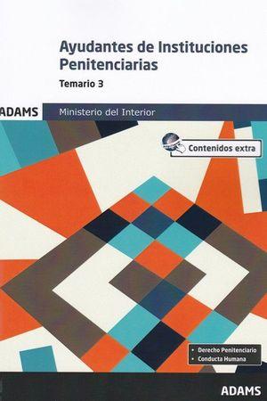 AYUDANTES  DE INSTITUCIONES PENITENCIARIAS. TEMARIO 3