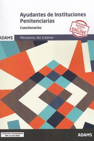 AYUDANTES INSTITUCIONES PENITENCIARIAS. CUESTIONARIOS 2019