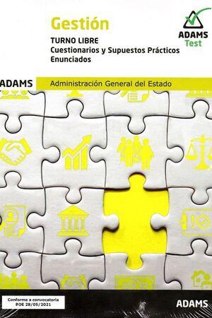 GESTION. TURNO LIBRE. CUESTIONARIOS Y SUPUESTOS PRACTICOS, ENUNCIADOS (2 VOL.)