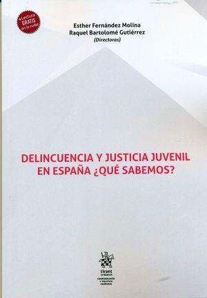 DELINCUENCIA Y JUSTICIA JUVENIL EN ESPAÑA. QUÉ SABEMOS?