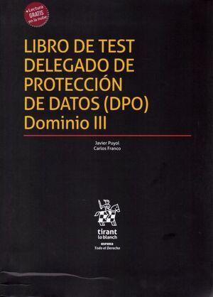 LIBRO DE TEST DELEGADO DE PROTECCIÓ DE DATOS (DPO) DOMINIO III