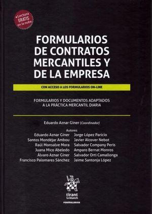 FORMULARIOS DE CONTRATOS MERCANTILES Y DE LA EMPRESA