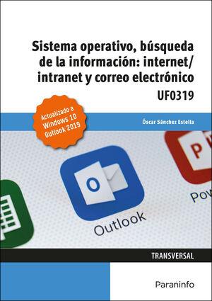 SISTEMA OPERATIVO, BÚSQUEDA DE LA INFORMACIÓN: INTERNET/INTRANET Y CORREO ELECTRÓNICO - UF0319
