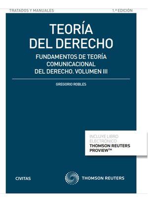 TEORÍA DEL DERECHO (VOLUMEN III) (PAPEL + E-BOOK)