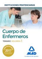 CUERPO DE  ENFERMEROS TEMARIO VOL 3 INSTITUCIONES PENITENCIARIAS