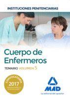 CUERPO DE ENFERMEROS TEMARIO VOL 5  INSTITUCIONES PENITENCIARIAS