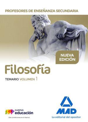 FILOSOFÍA TEMARIO VOL.1 PROFESORES DE ENSEÑANZA SECUNDARIA