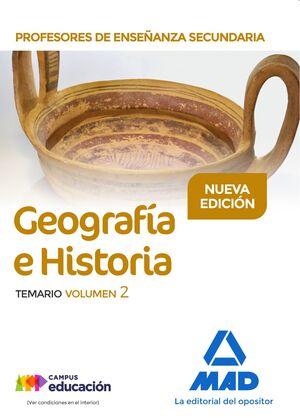 PROFESORES DE ENSEÑANZA SECUNDARIA GEOGRAFÍA E HISTORIA TEMARIO VOLUMEN 2
